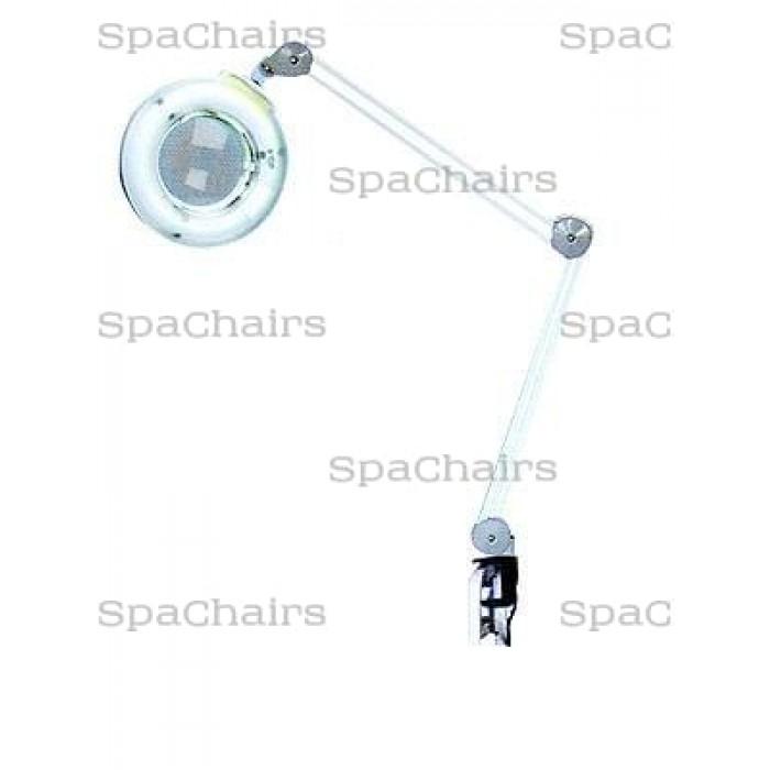 Лампа-лупа на струбцине С